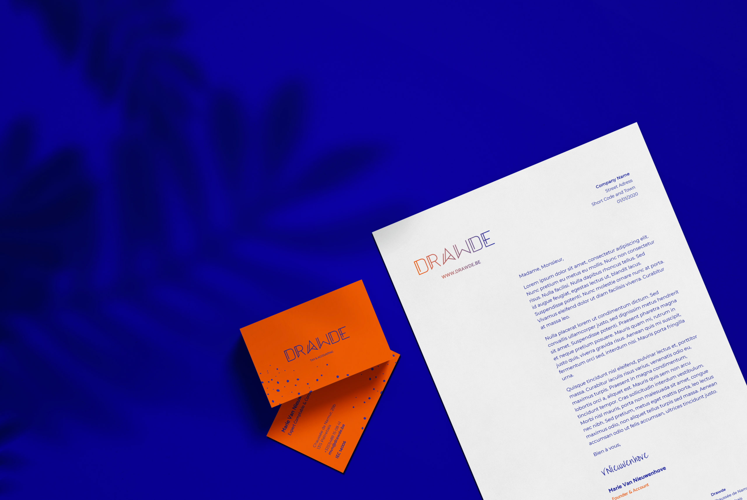 Drawde letter and business cards.