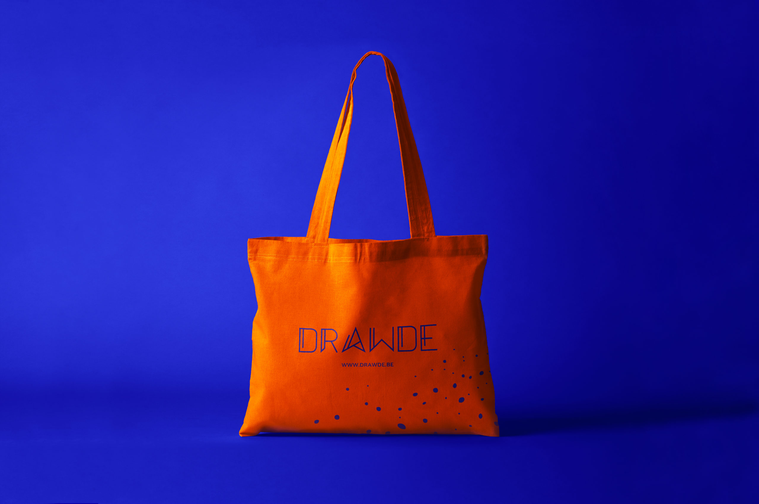 Tote bag orange Drawde.